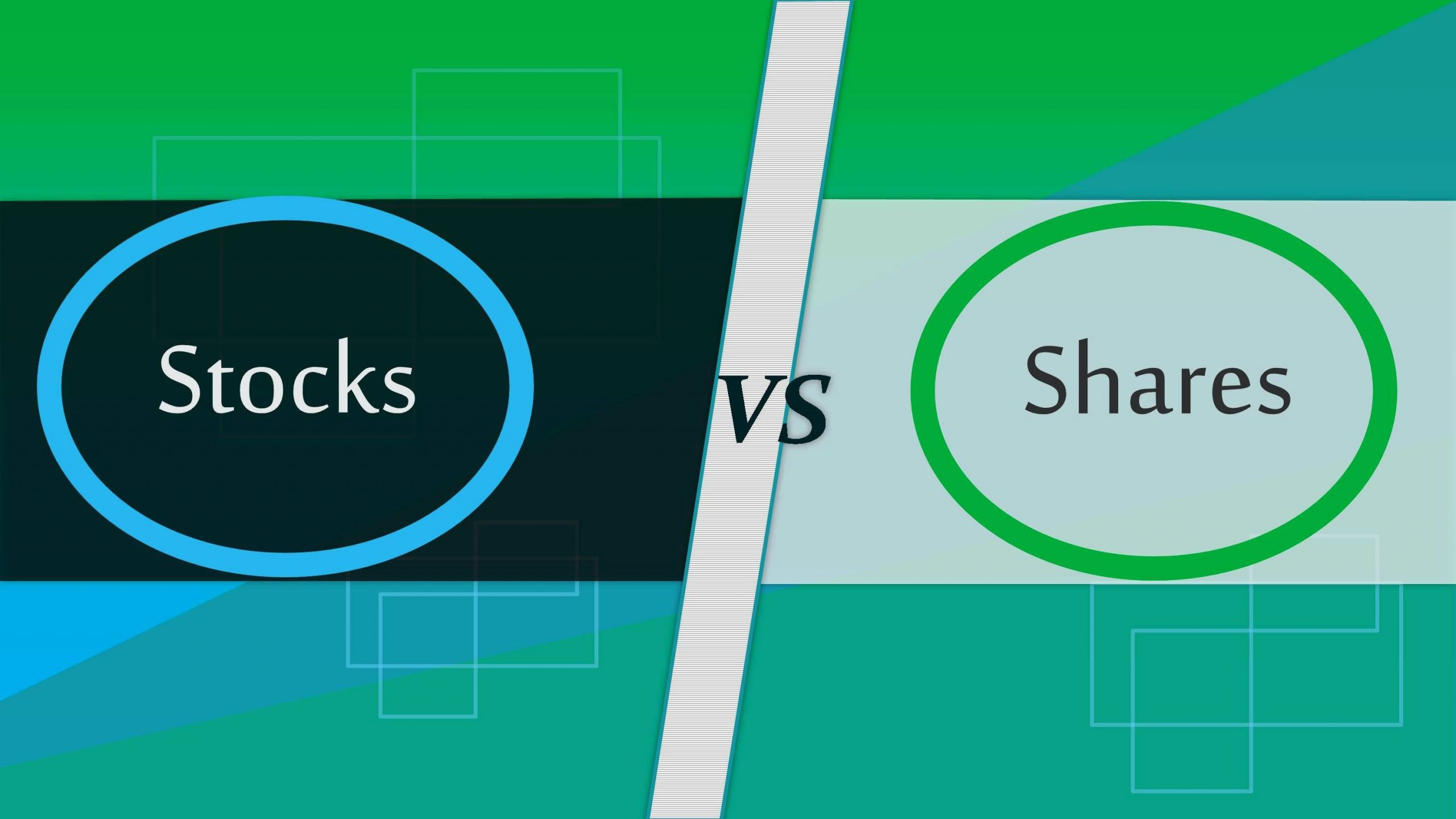 difference between stocks and shares