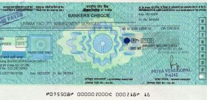 banker's cheque image