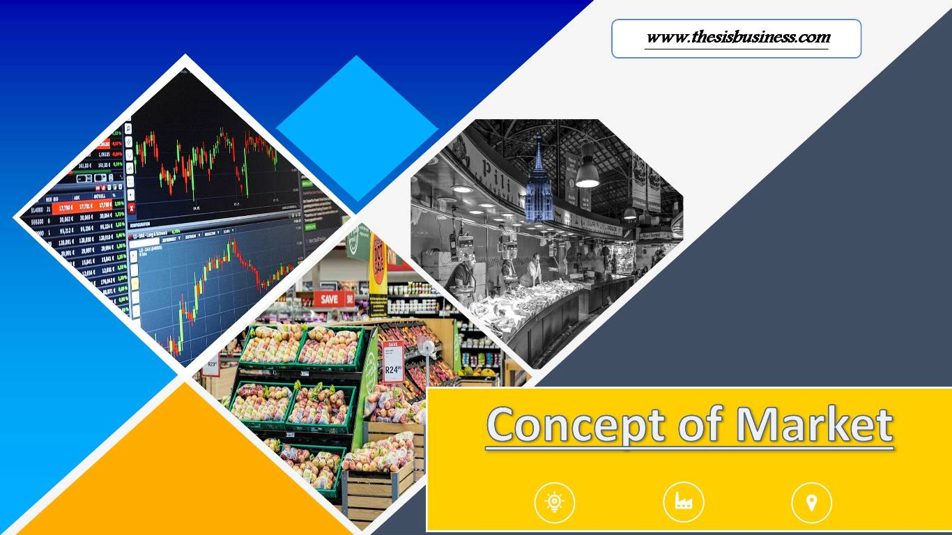concept of market infographic
